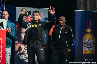 Sergiy Derevyanchenko - Sergiy Derevyanchenko has his choice to pick between two offers from champions Canelo Alvarez and Jermall Charlo for his next fight. The more winnable fight for Derevyanchenko (13-2, 10 KOs) is believed to be talented but deeply flawed WBC middleweight champion Charlo (30-0, 22 KOs).