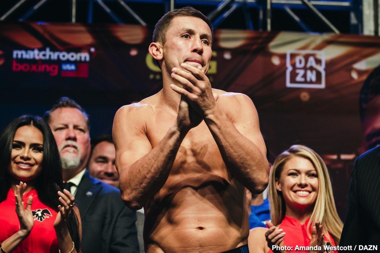 """DAZN Gennadiy Golovkin Johnathon Banks Saul """"Canelo"""" Alvarez Sergiy Derevyanchenko Boxing News"""