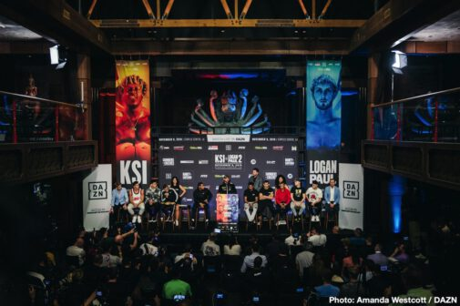 Billy Joe Saunders, KSI, Logan Paul, Marcelo Esteban Coceres - Haney & Saunders will fight at STAPLES Center in Los Angeles on Saturday November 9, live on DAZN in the US, Sky Sports in the UK and distributed globally on FITE - All of the fighters from Saturday's stacked card hit the scales on Friday afternoon. Highlighting the main card, which kicks off at 9 p.m. ET, is newly crowned lightweight world champion Devin Haney making his first title defense and super middleweight champion Billy Joe Saunders making his United States debut. The undercard begins at 7 p.m. ET and features rising prospects Diego Pacheco, Nikita Ababiy and Reshat Mati.