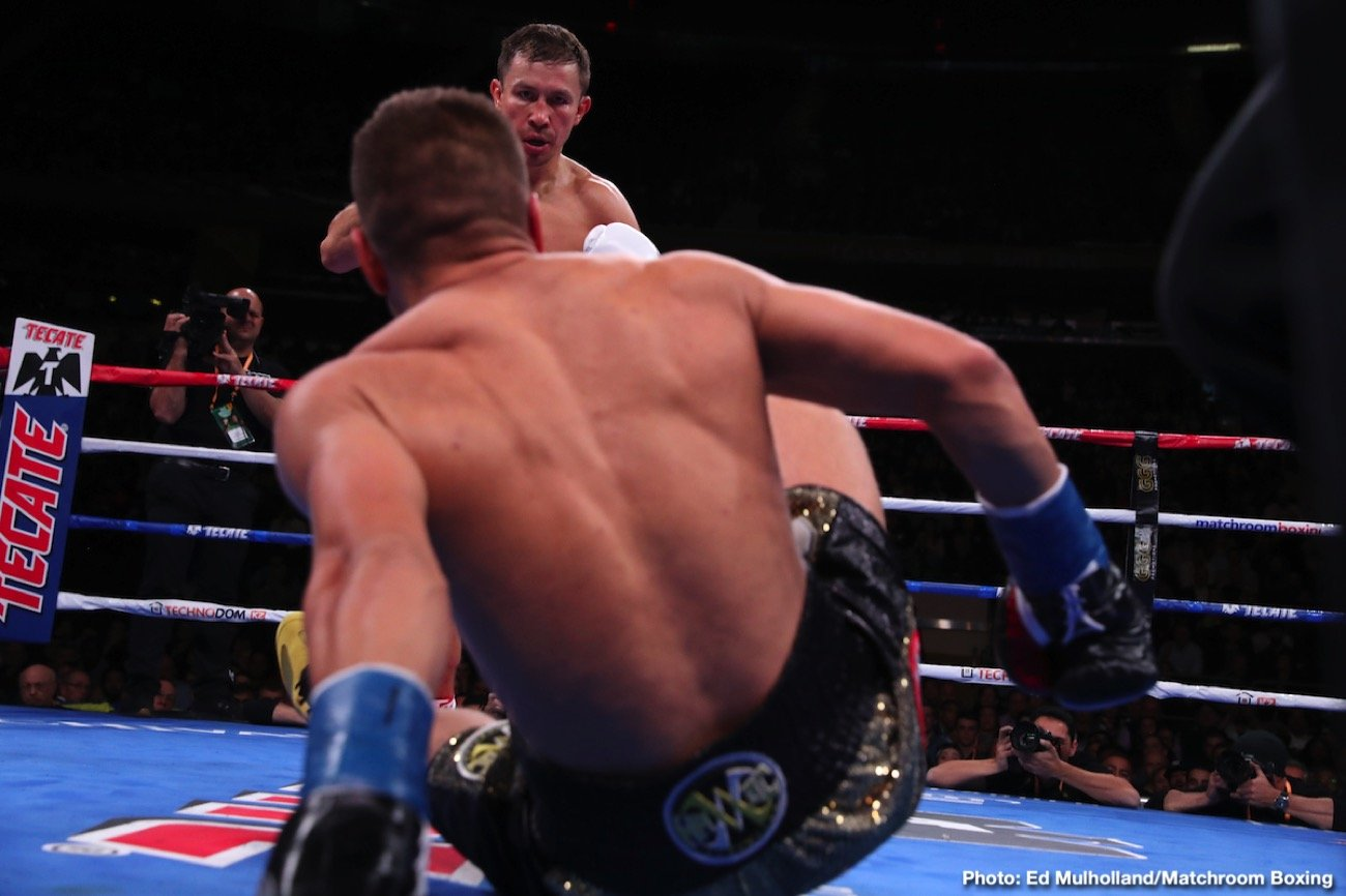 Sergey Derevyanchenko - Gennadiy Golovkin is back in the World champion ranks after beating Sergiy Derevyanchenko in a thrilling contest for the IBF and IBO Middleweight titles at Madison Square Garden in New York, live on DAZN in the US and on Sky Sports in the UK.