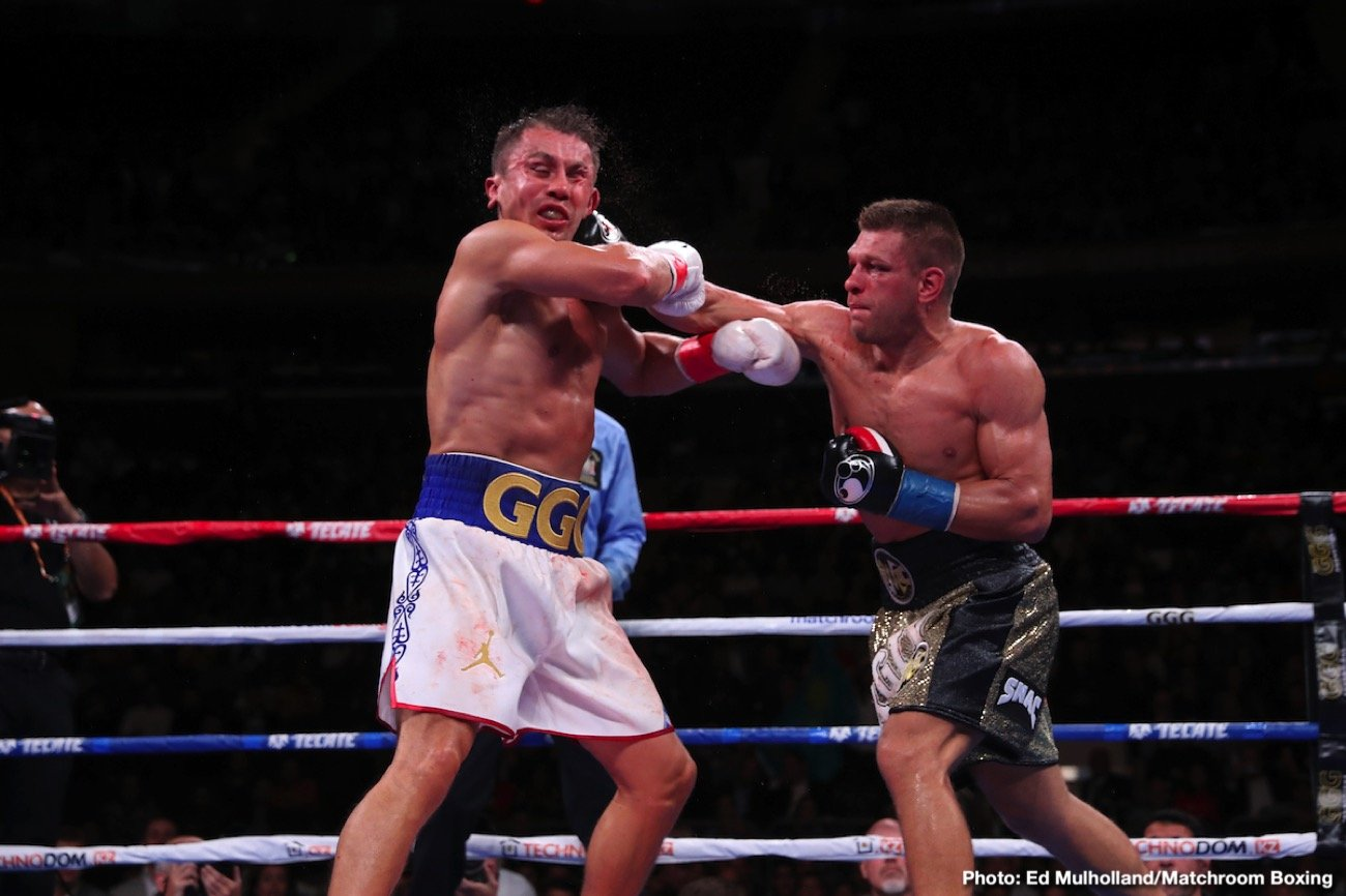 Alejandro Barrera, Ali Akhmedov, DAZN, Gennadiy Golovkin, Israil Madrimov, Sergiy Derevyanchenko - In a questionably scored fight, former IBF/WBC/WBC middleweight champion Gennadiy Golovkin (40-1-1, 35 KOs) won a 12 round unanimous decision over Sergiy Derevyanchenko (13-2, 10 KOs) on Saturday night to win the vacant International Boxing Federation 160-lb title in front of a large crowd at Madison Square Garden in New York. The fight was steamed on DAZN.