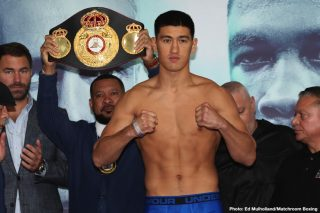 Dmitry Bivol - Dmitry Bivol says that he is willing to drop down to Super-Middleweight to face World champion Callum Smith and become a two-weight World champion as he plots his future in the latest episode of Matchroom Boxing's Podcast 'The Lockdown Tapes'.