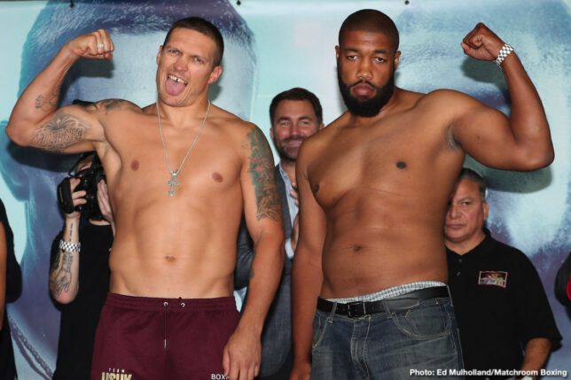Alexander Usyk, Chazz Witherspoon - Boxing News
