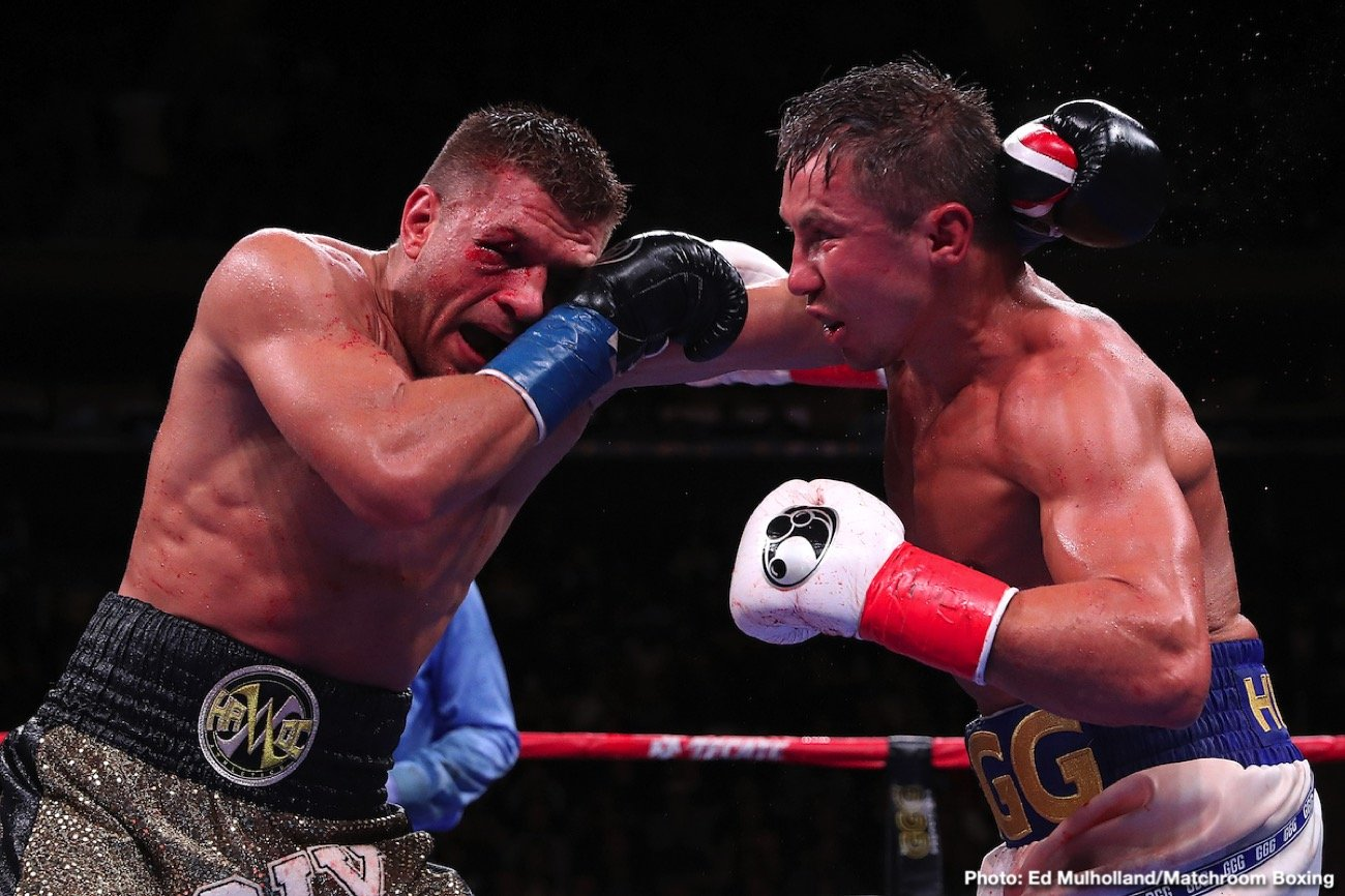 DAZN, Gennadiy Golovkin, Sergiy Derevyanchenko - Gennady Golovkin fought Sergiy Dereyanchenko while ill tonight, according to his promoter Eddie Hearn. He says that Golovkin (39-1-1, 35 KOs) has been ill all week long with an undetermined illness that he just found out about on Friday. Hearn believes that Golovkin's illness is the reason why he failed to look good on Saturday night in winning a close 12 round unanimous decision The scores were 114-113, 115-112 and 115-112.