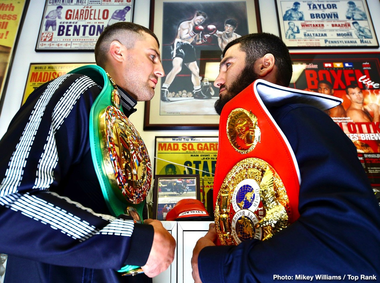 Luis Collazo - IBF light heavyweight world champion Artur Beterbiev and WBC light heavyweight world champion Oleksandr Gvozdyk ended their fight promotion obligations Wednesday at the office of Hall of Fame promoter J Russell Peltz. They posed for pictures in front of the fight poster for the legendary 1962 light heavyweight championship fight between Doug Jones and Harold Johnson, which took place at the old Philadelphia Arena.