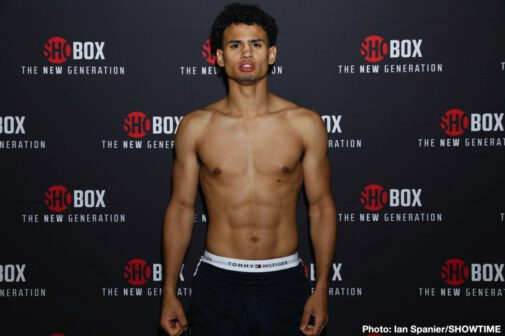 Jessie Cris Rosales, Xavier Martinez - Four of Mayweather Promotions' top prospects and their opponents all weighed in on Thursday ahead of Friday night's ShoBox: The New Generation quadrupleheader live on SHOWTIME (10:30 p.m. ET/PT) from Sam's Town Live in Las Vegas.