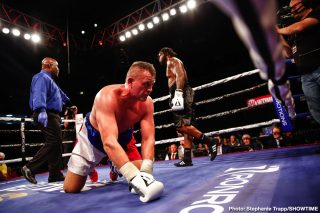 Jaron Ennis - Unbeaten welterweight Jaron Ennis scored yet another knockout in his return to national television Saturday on SHOWTIME with a third round TKO of Demian Fernandez at Dort Federal Credit Union Event Center in Flint, Mich.