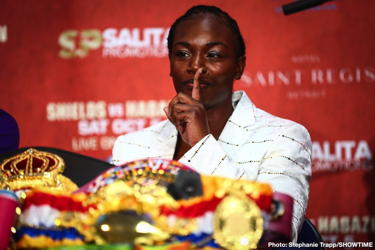 Claressa Shields - Claressa Shields is super-motivated ahead of this Friday night's fight with Ivana Habazin. Arguably the finest female boxer in the world today, Shields says she will get the win and in doing so break the record Vasyl Lomachenko holds as being a three-weight world champ with least amount of fights – just 12. Shields, 9-0(2) has won belts at super-middleweight and middleweight, and with a win over Habazin, 20-3(7), the 24 year old would become a world ruler at super-welterweight.