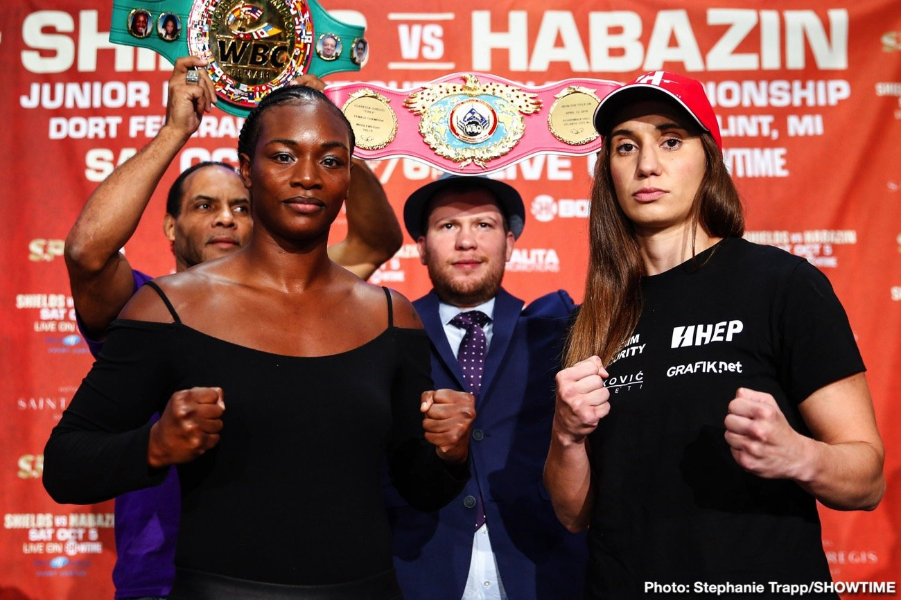 Claressa Shields, Ivana Habazin - Undisputed Middleweight Champion Shields Battles Habazin for Vacant WBC & WBO 154-Pound Titles Live on SHOWTIME from Ocean Casino Resort in Atlantic City, N.J.