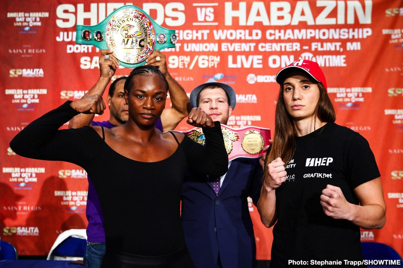 "Claressa Shields - A second women's superfight has been added to the blockbuster Claressa Shields vs. Ivana Habazin event on Friday, January 10, at Ocean Casino Resort in Atlantic City, N.J., as WBA Super Middleweight Champion Alicia ""The Empress"" Napoleon-Espinosa will face undefeated IBF Champion Elin Cederroos in a 10-round unification live on SHOWTIME."