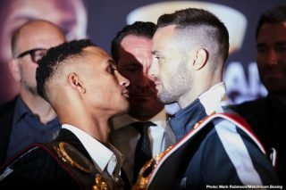 Regis Prograis - The World Boxing Super Series 140-pound final matches Josh Taylor and Regis Prograis in a 50-50 fight on paper. Both men are unbeaten a victory here would raise their profile and lead to a possible fight with Jose Ramirez and/or a major opportunity at welterweight. The winner will also take home the Muhammad Ali trophy as part of the WBSS. The event streams live on DAZN at the O2 Arena in London, England and let's hope they get a strong walkup crowd so the stands are packed.