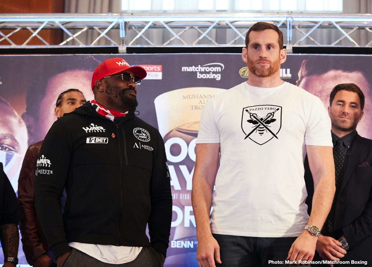 David Price - Derek Chisora - Finchley, England - 31-9, 22 KOs – fighting David Price for the vacant WBO Inter-Continental Heavyweight title:
