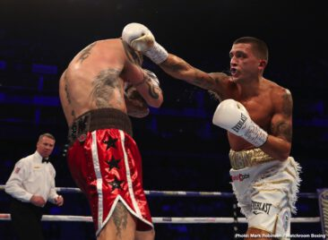 Tonight on the big O2 show in London, former champions Lee Selby and Ricky Burns clashed in a lightweight bout that turned out to be very much a clash of styles. Messy at times, with plenty of holding, holding and hitting and with both men frequently looking at the referee, the fight failed to catch fire.