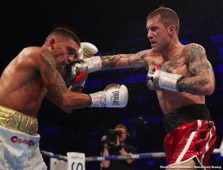 Ricky Burns - Tonight on the big O2 show in London, former champions Lee Selby and Ricky Burns clashed in a lightweight bout that turned out to be very much a clash of styles. Messy at times, with plenty of holding, holding and hitting and with both men frequently looking at the referee, the fight failed to catch fire.