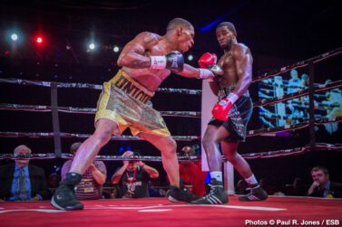 "Demond Nicholson - By Paul R Jones!  | Photos © Paul R. Jones - Hanover, MD – It took a ""unique"" fighter—Devaun 'Unique' Lee (10-7-1, 5 KOs) to be exact—to bring ""D'Best"" out of Demond 'D'Best@It' Nicholson (22-3-1, 20 KOs) on Friday night at the Maryland Live! Casino • Hotel in Maryland."