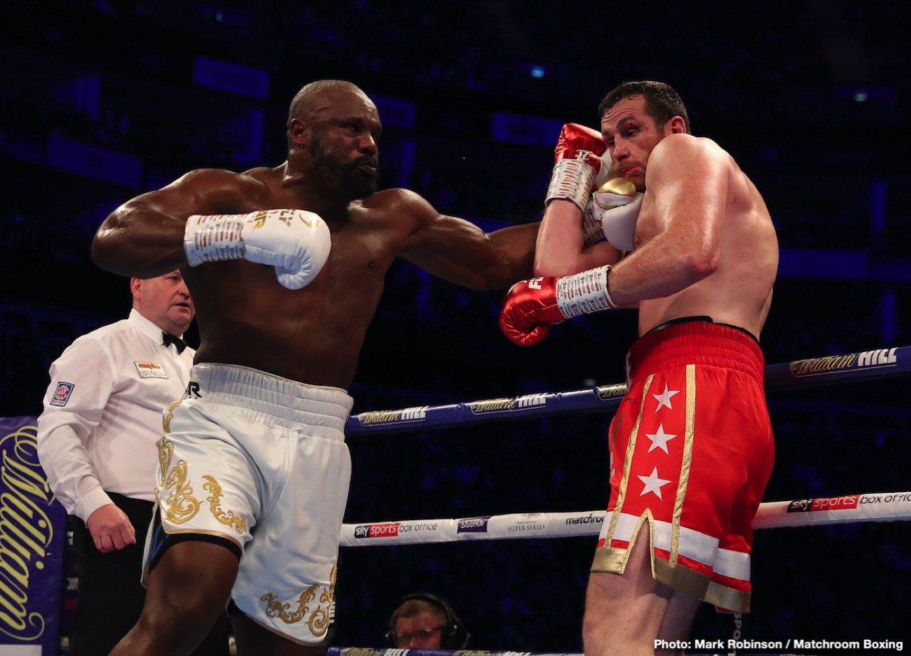 "Alexander Usyk, David Higgins, Derek Chisora, Joseph Parker - Who would YOU rather see British heavyweight warhorse Dereck Chisora fight next: Oleksandr Usyk or Joseph Parker? There has been talk that Usyk, 1-0 as a heavyweight courtesy of his recent stoppage win over Chazz Witherspoon, might risk his lofty WBO heavyweight ranking by taking a fight with Chisora. Chisora is up for the fight, as is the manager of ""War,"" David Haye."