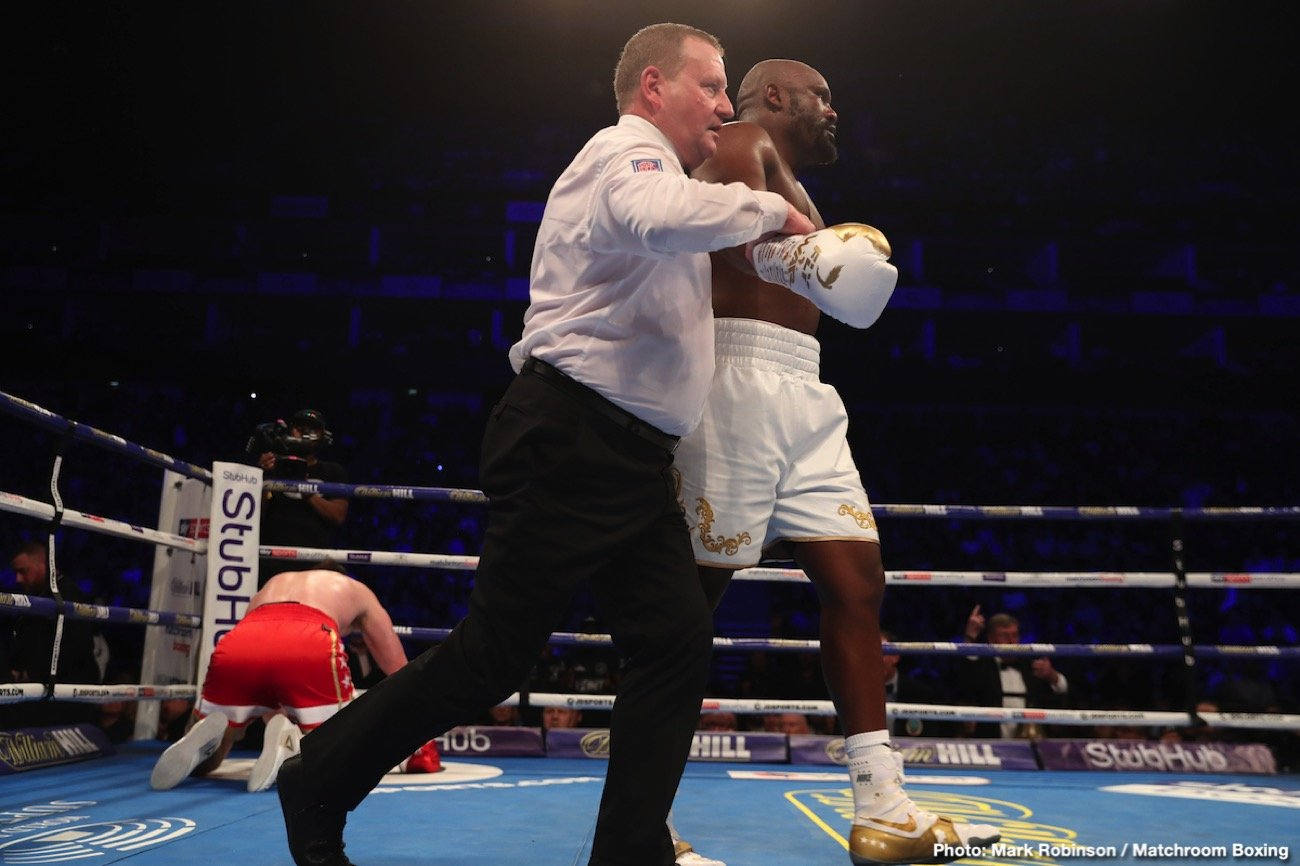 The chief support bout at the O2 in London came close, for a while, to reaching levels of genuine incredulity.  Veterans Dereck Chisora and David Price let the bombs fly, Chisora mostly, and the war was on. Until the disappointing but perhaps inevitable ending.