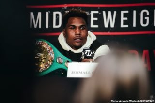 """Dennis Hogan - Jermall Charlo says he's interested in signing some one-day contracts with DAZN to fight their top fighters Saul Canelo Alvarez, Gennady Golovkin and Demetrius Andrade. Charlo says for DAZN and Matchroom Boxing USA promoter Eddie Hearn to """"Hit him up"""" with an offer."""