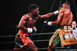Nathaniel Gallimore - Top super welterweight contender Erickson Lubin continued his resurgence with a dominant 10-round unanimous decision victory over Nathaniel Gallimore Saturday night on SHOWTIME from Santander Arena in Reading, Pa.