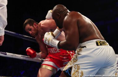 David Price, Dereck Chisora - The chief support bout at the O2 in London came close, for a while, to reaching levels of genuine incredulity.  Veterans Dereck Chisora and David Price let the bombs fly, Chisora mostly, and the war was on. Until the disappointing but perhaps inevitable ending.