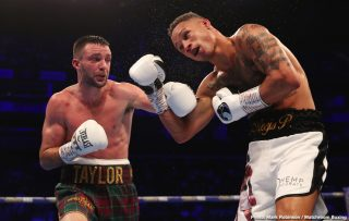 David Price - IBF 140-lb champion Josh Taylor (16-0, 12 KOs) went to war with WBA light welterweight champion Regis Prograis (24-1, 20 KOs) in beating him by a 12 round majority decision on Saturday night to win the World Boxing Super Series tournament at the O2 Arena in London, UK.