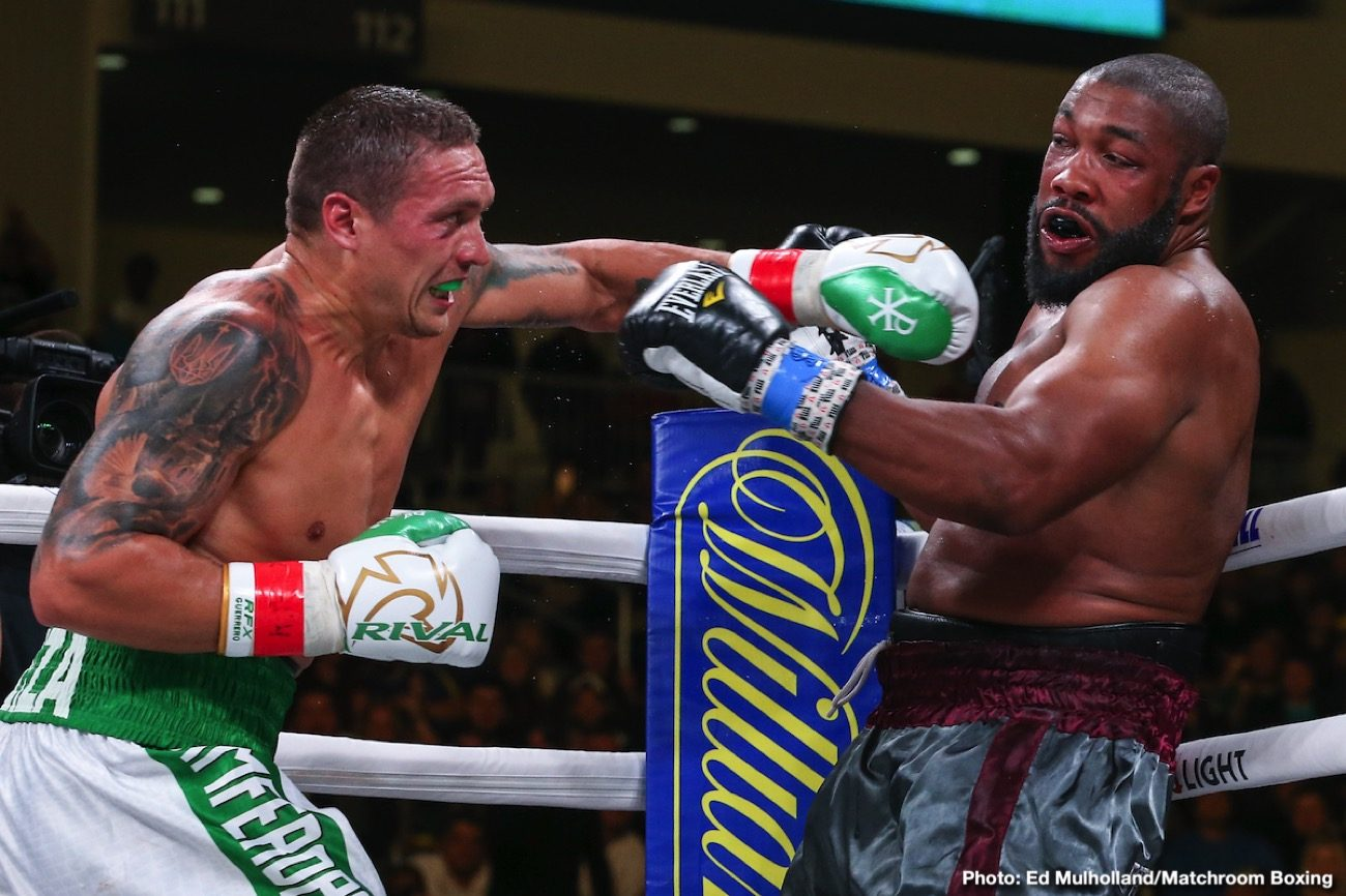Aleksandr Usyk Chazz Witherspoon Boxing News Top Stories Boxing