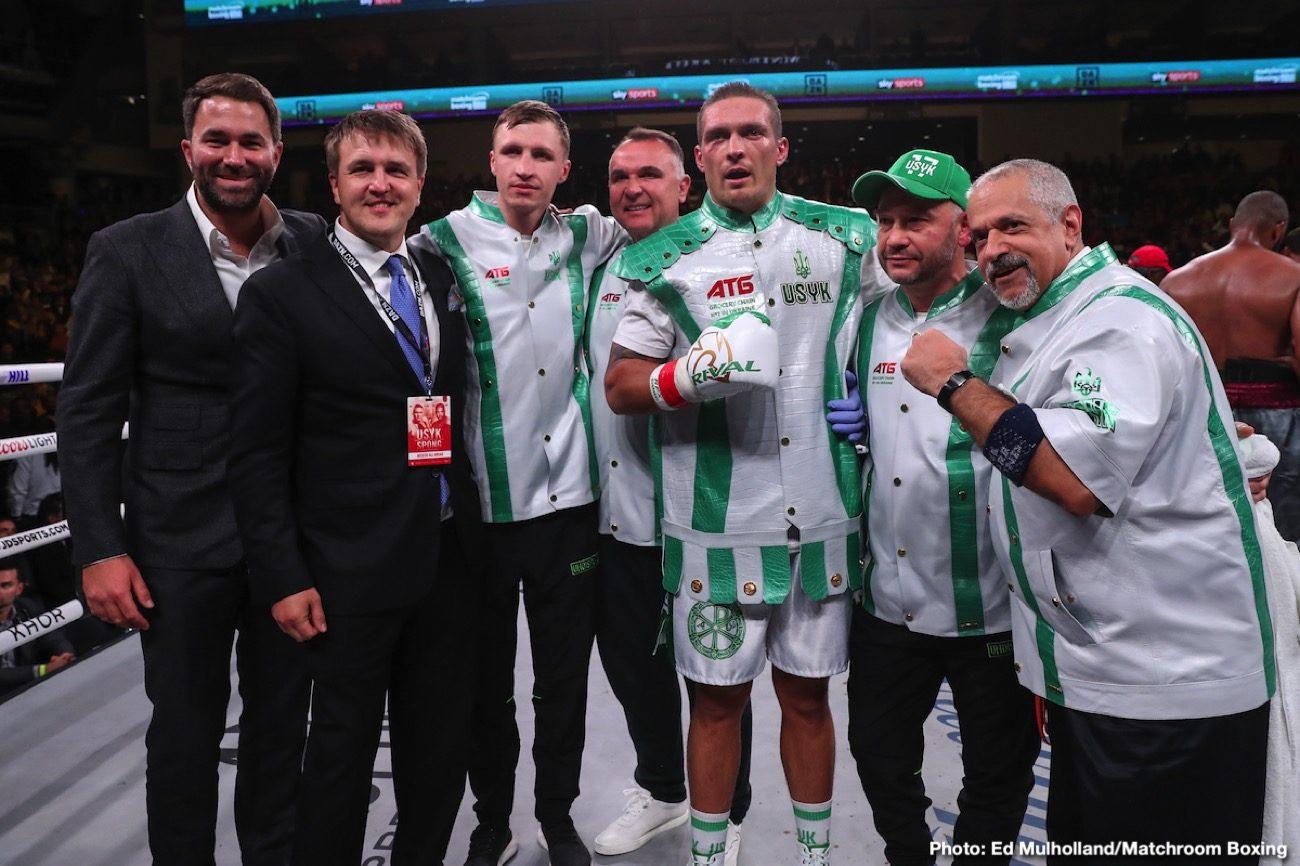 Andy Ruiz Anthony Joshua Eddie Hearn Oleksandr Usyk Boxing News