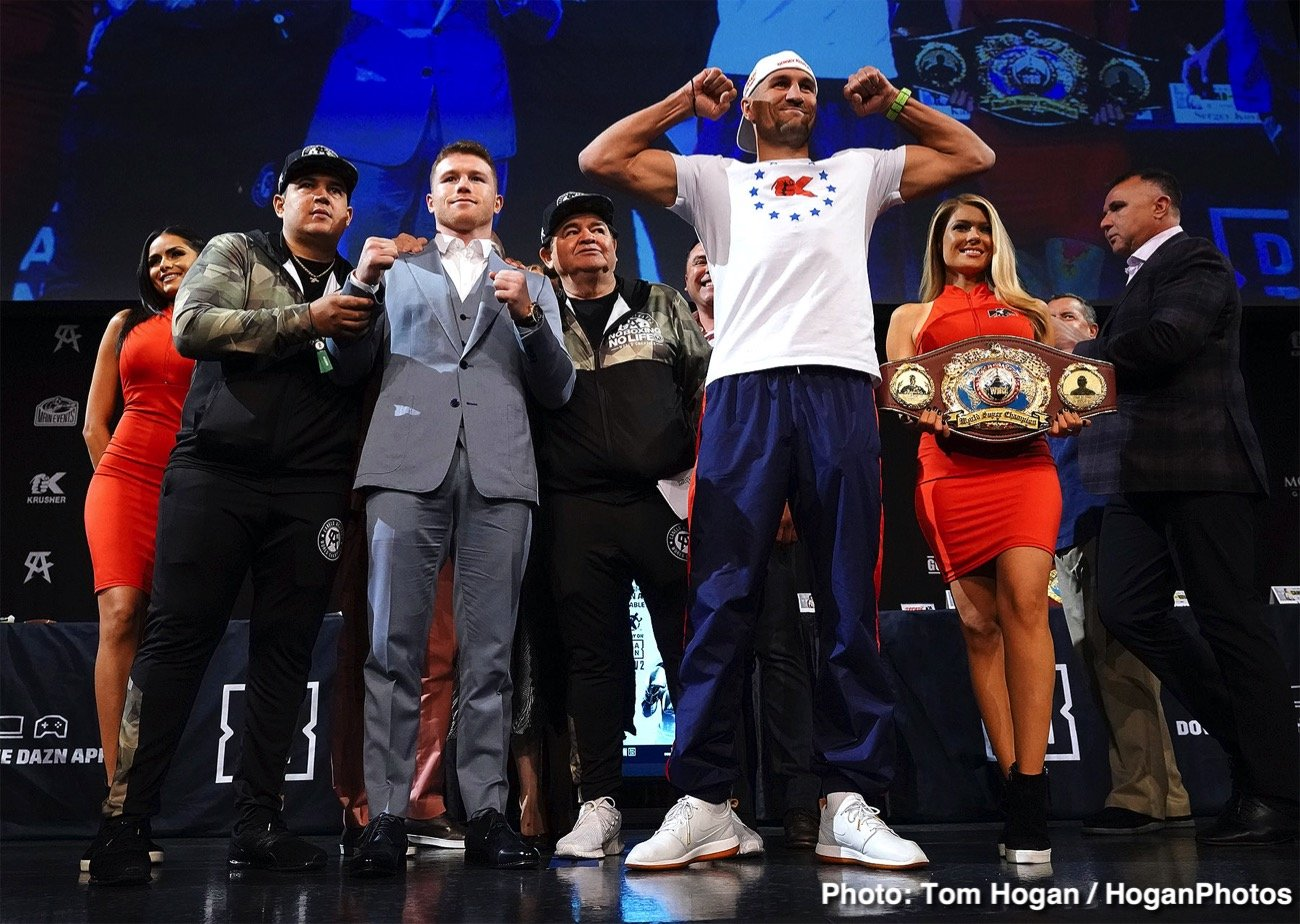 """Sergey Kovalev - Whichever way you look at it, this Saturday night's fight in Las Vegas between defending WBO light-heavyweight champ Sergey Kovalev and middleweight challenger Canelo Alvarez is a very interesting fight; a fight plenty of people are talking about. But how are you looking at it: as a sure win for Canelo, who has """"hand-picked,"""" or if you prefer, """"cherry-picked"""" the easiest (oldest) of the current 175 pound champions, or as a genuinely tough fight to pick a winner from; a 50/50 fight?"""