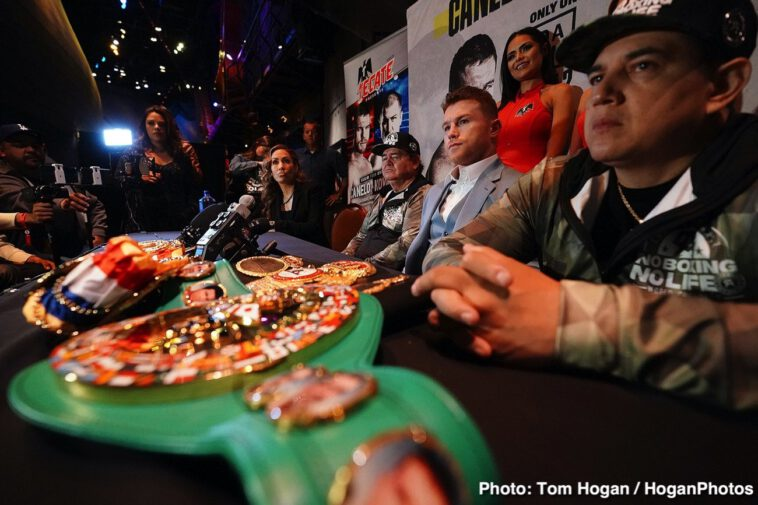 """Saul """"Canelo"""" Alvarez, Sergey Kovalev - Canelo Alvarez (52-1-2, 35 KOs) and Sergey """"Krusher"""" Kovalev (34-3-1, 29 KOs) hosted their final press conference today ahead of their 12-round fight for Kovalev's WBO Light Heavyweight World Title. The event will take place on Saturday, Nov. 2, 2019 at the MGM Grand Garden Arena in Las Vegas and will be streamed live exclusively on DAZN."""