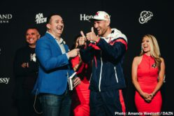 "Romero Duno, Ryan Garcia, Saul ""Canelo"" Alvarez, Sergey Kovalev - Saul Canelo Alvarez (52-1-2, 35 KOs) and Sergey ""Krusher"" Kovalev (34-3-1, 29 KOs) made their grand arrivals today at the MGM Grand Resort and Casino in Las Vegas ahead of their 12-round fight for Kovalev's WBO Light Heavyweight World Title. The event will take place on Saturday, Nov 2, 2019 at MGM Grand Garden Arena in Las Vegas and will be streamed live exclusively on DAZN."