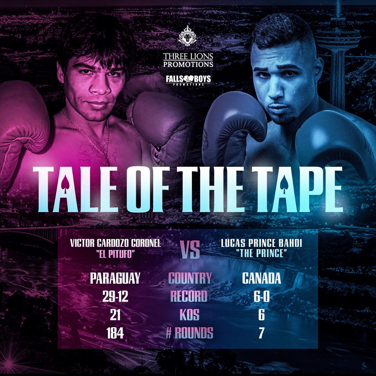 "Lucas Bahdi, Victor Cardozo - To be the best, a fighter must beat the best. This is the rationale behind the matchmaking for Lucas ""Prince"" Bahdi's (6-0-0, 6KOs) return on November 23 at the Sheraton on the Falls in his hometown of Niagara Falls, Ontario. Falls Boys Promotions (FBP) and Three Lions Promotions (TLP) are cranking Bahdi's opposition up a notch for his much anticipated homecoming, putting the former Canadian amateur champion against two-division Paraguayan champion Victor Cardozo (29-12-2, 21KOs) of Puerto Antequera for eight rounds or less."
