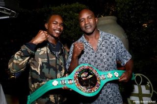 """Evan Holyfield - On November 2, before thousands of fans in attendance at the MGM Grand Garden Arena in Las Vegas, NV are treated to the most-anticipated fight of the year, the live audience will witness the professional debut of Evan """"Yung Holy"""" Holyfield. The 21-year-old son of Hall-of-Famer and five-time world heavyweight champion, Evander """"Real Deal"""" Holyfield, will face Nick Winstead of Abita Springs, Louisiana in a 4-round junior middleweight matchup on the undercard of Canelo Alvarez vs. Sergey """"Krusher"""" Kovalev."""
