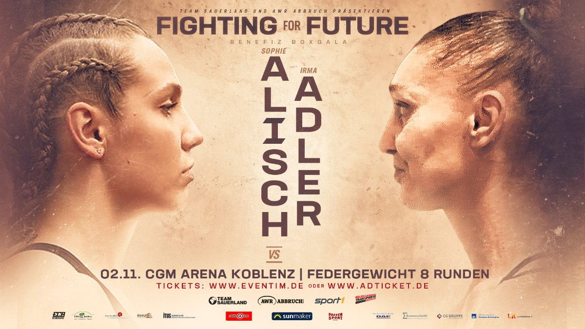 Irma Balijagic Adler, Sophie Alisch - Sophie Alisch (4-0, 1 KO) will face the toughest test of her career on November 2nd as the 17-year-old boxing sensation takes on former two-time World title challenger Irma Balijagic Adler (16-12, 8 KOs) at the CGM Arena, Koblenz.