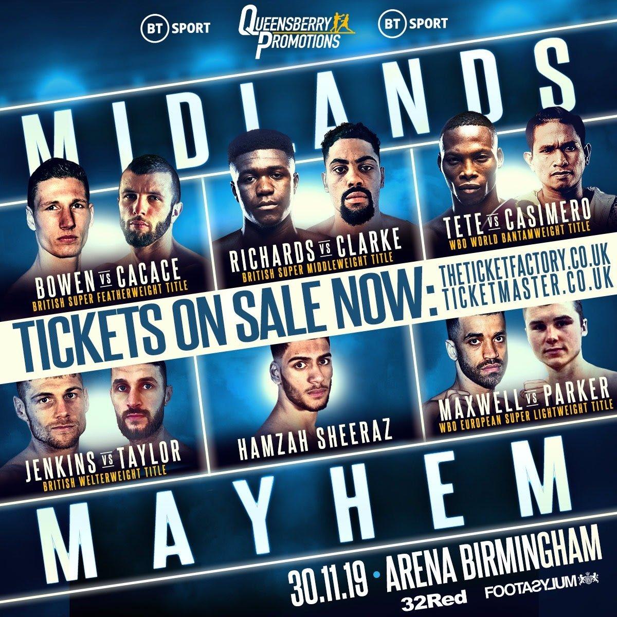 Anthony Cacace, Sam Bowen - British Boxing