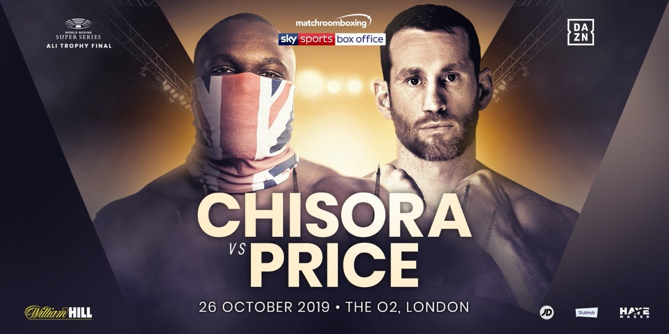 David Price - Derek Chisora will face David Price at The O2 on Saturday October 26, live on Sky Sports Box Office in the UK and DAZN in the US.