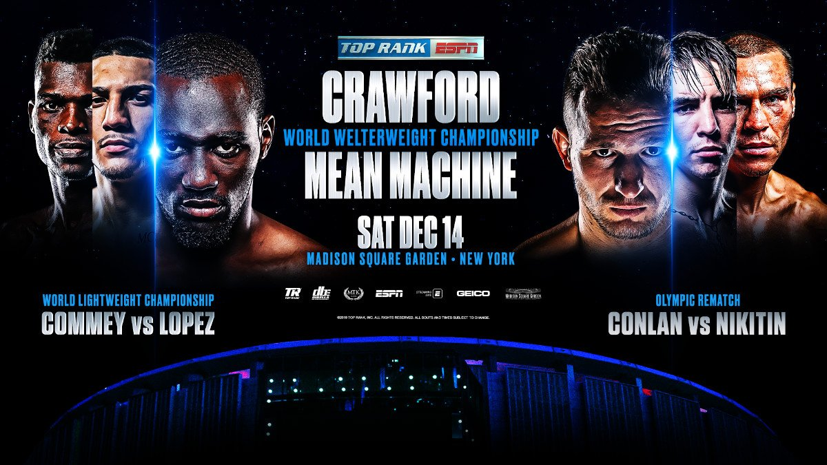 Michael Conlan - Tripleheader will also feature Richard Commey-Teofimo Lopez lightweight title fight and the Michael Conlan-Vladimir Nikitin featherweight grudge match - Saturday, Dec 14 at 9 p.m. ET on ESPN, ESPN Deportes and the ESPN App