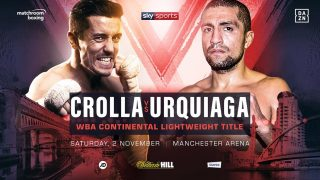 Anthony Crolla - Anthony Crolla will face Frank Urquiaga for the WBA Continental Lightweight title in his farewell fight at Manchester Arena on Saturday November 2, live on Sky Sports in the UK and DAZN in the US.