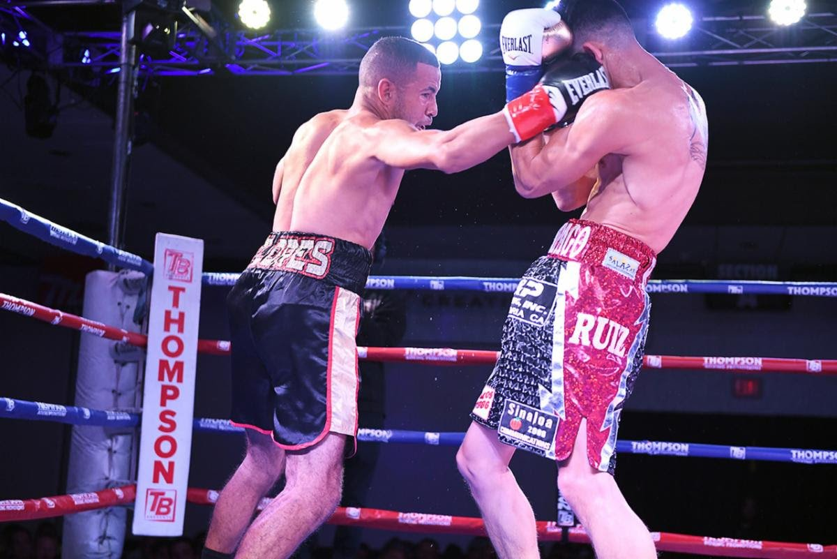 "Angel Ruiz, Javier Flores - In the night's sole upset, Puerto Rico's Javier Flores (15-2, 13 KOs) downed previously unbeaten welterweight prospect Angel Ruiz (16-1, 12 KOs) with a counter right hand in the second round of the ""Path to Glory"" main event on Friday night."