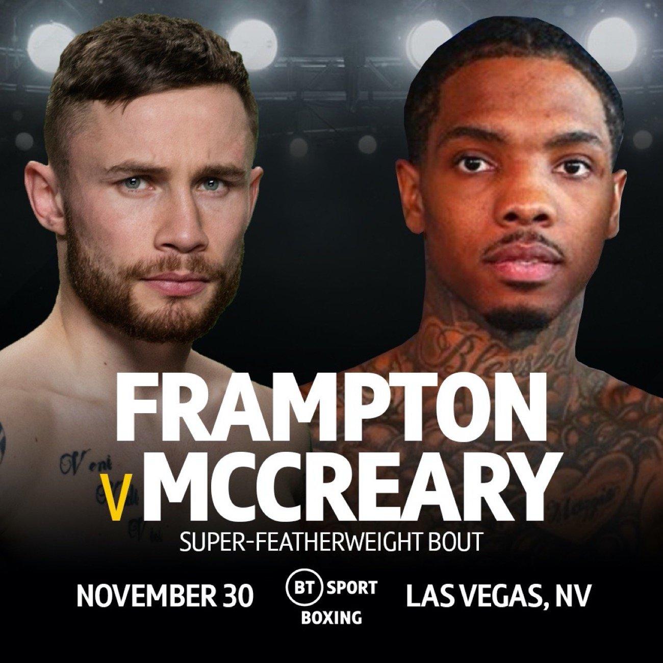 "Carl Frampton - FORMER TWO-WEIGHT WORLD CHAMPION Carl ""The Jackal"" Frampton makes his long awaited return on November 30th at The Cosmopolitan of Las Vegas, live on BT Sport."