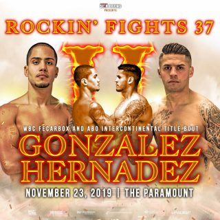 "Danny Gonzalez - When The Paramount marquee lights up with Star Boxing's ""Rockin' Fights"" logo, boxing fans know they are in for a treat. However, come November 23, boxing fans are in for more than that when two hometown favorites in, DANNY ""EL GALLO"" GONZALEZ (Woodhaven, NY 18-2-1 7KO's) and JOHNNY ""HITMAN"" HERNANDEZ (Huntington, NY 10-4 1KO) settle their bad blood in a rematch at the ""Rockin' Fights 37"" main event."