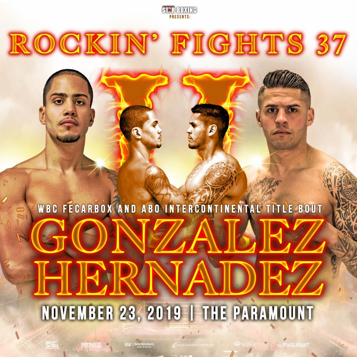 "Danny Gonzalez, Johnny Hernandez - When The Paramount marquee lights up with Star Boxing's ""Rockin' Fights"" logo, boxing fans know they are in for a treat. However, come November 23, boxing fans are in for more than that when two hometown favorites in, DANNY ""EL GALLO"" GONZALEZ (Woodhaven, NY 18-2-1 7KO's) and JOHNNY ""HITMAN"" HERNANDEZ (Huntington, NY 10-4 1KO) settle their bad blood in a rematch at the ""Rockin' Fights 37"" main event."
