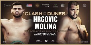 """Eric Molina - Experienced heavyweight contender and former two-time world title challenger Eric Molina, 27-5(19) is ready to fight the """"fight of my life"""" against unbeaten, red-hot prospect/contender Filip Hrgovic on the massive Ruiz-Joshua II card in Saudi Arabia."""