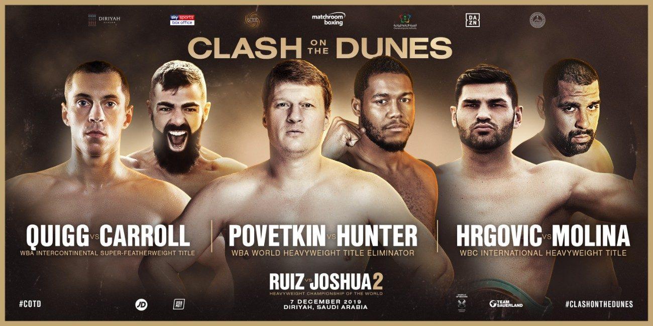 Alexander Povetkin Anthony Joshua Eric Molina Filip Hrgovic Michael Hunter Boxing News