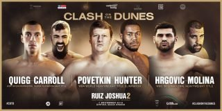 Alexander Povetkin, Anthony Joshua, Eric Molina, Filip Hrgovic, Michael Hunter - First details of the supporting cast to the colossal Unified Heavyweight World Title rematch between Andy Ruiz Jr and Anthony Joshua have now been confirmed. The rivals will lock horns again at the Diriyah Arena in the Kingdom of Saudi Arabia on Saturday December 7, shown live on Sky Sports Box Office in the UK and DAZN in the US.
