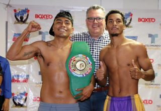 """John Karl Sosa -  Boxeo Telemundo closes out its 2019 campaign with an intriguing welterweight matchup, WBC Latino champion Mauricio """"Trompas"""" Pintor(22-3-1 14 KO's) defends his title against Puerto Rican challenger John Karl Sosa(14-3 7 KO's) in a 10 round battle live from the famed Blackberry Auditorium in Mexico City."""