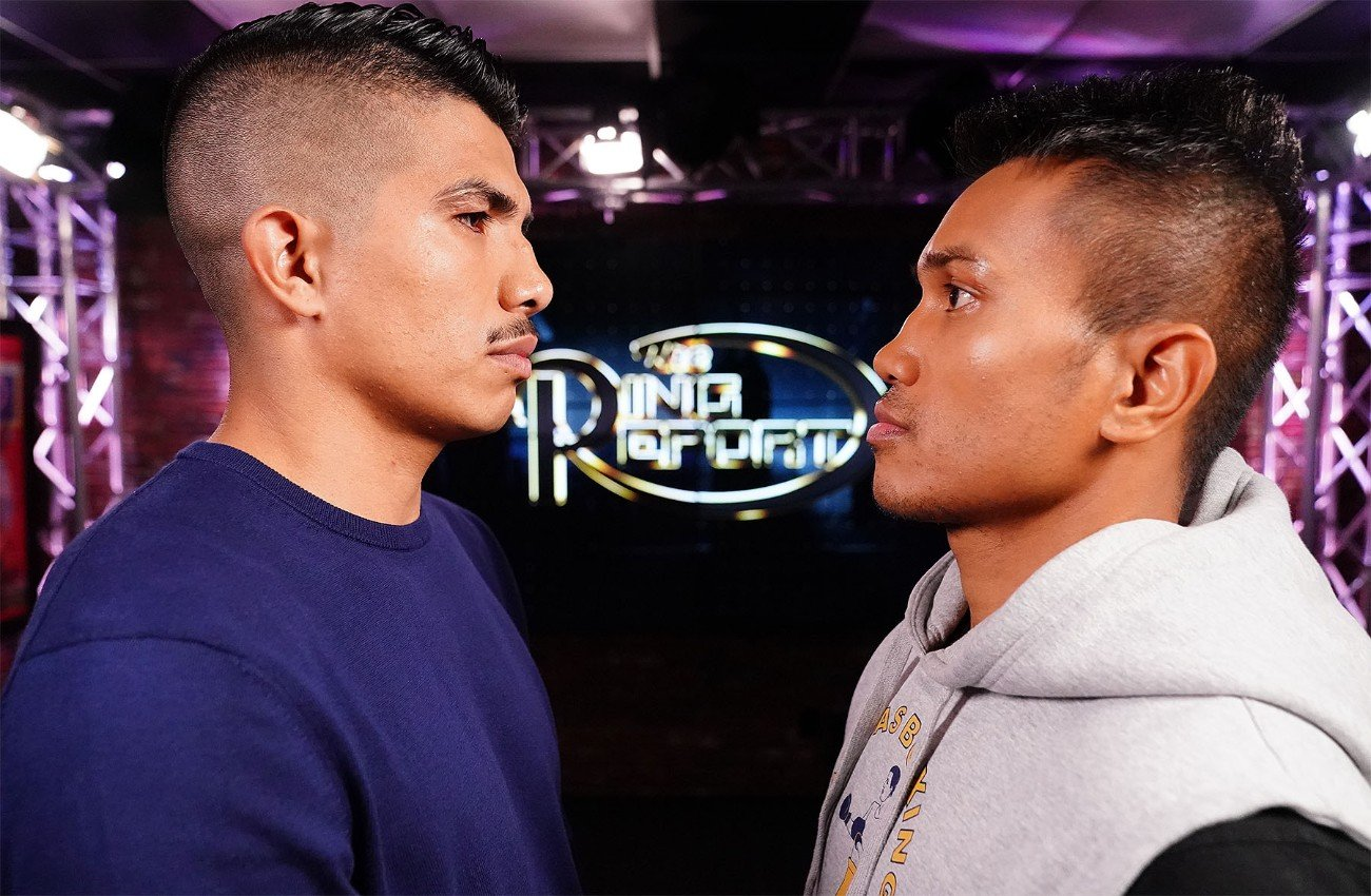 "Mercito Gesta - Carlos ""The Solution"" Morales (19-4-3, 8 KOs) and Mercito ""No Mercy"" Gesta (32-3-2, 17 KOs) discuss their upcoming 10-round lightweight battle on the Oct. 24 edition of Ring Report, which will air after Thursday Night Fights. The seven-minute segment will set the stage for their upcoming fight on Nov. 14 at the Belasco Theater in Los Angeles. All the action, both in and out of the ring, will be streamed live on RingTV.com and on Facebook Watch via the Golden Boy Fight Night Page beginning at 10:00 p.m. ET/7:00 p.m. PT. The series will also be available on regional sports networks around the nation."