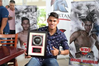 Emanuel Navarrete - Current Junior Featherweight Champion Emanuel 'El Vaquero' Navarrete was recognized by the World Boxing Organization (WBO) today, during the 22nd Annual WBO Golf Tournament at 'El Legado Golf Club' in Guayama. This edition of the annual golf competition serves as preamble to the Thirty-Second Annual WBO Convention, which will be held in the city of Tokyo, Japan, from December 2 until Thursday, December 5, 2019.