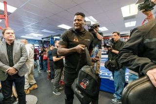 "Deontay Wilder, Julio Ceja, Luis Ortiz - Heavyweight Contender Luis ""King Kong"" Ortiz Holds Halloween Workout Ahead of Rematch Against WBC Heavyweight Champion Deontay Wilder Saturday, November 23 in FOX Sports PBC Pay-Per-View Main Event from the MGM Grand Garden Arena in Las Vegas, Nevada."