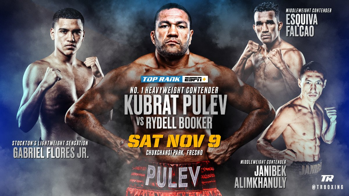 Jamel Herring, Kubrat Pulev, Lamont Roach, Rydell Booker - IBF No. 1 heavyweight contender Kubrat Pulev returns to the ring to face Rydell Booker in a 10-round clash Saturday, November 9 at Chukchansi Park in downtown Fresno, California.
