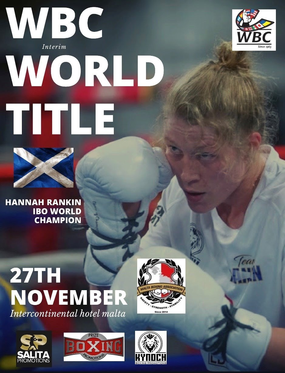 Hannah Rankin, Patricia Berghult - On Wednesday, November 27, women's WBC #7-, WBA #2- and IBO #2-ranked Hannah Rankin of Glasgow, Scotland, will look to add the interim WBC Super Welterweight World Championship to her history-making resume when she faces Sweden's undefeated Patricia Berghult at the Hotel InterContinental St. Julians in St. Julian's, Malta.